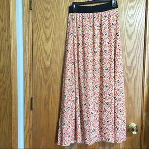 LulaRoe Lucy Floral Print Maxi Skirt